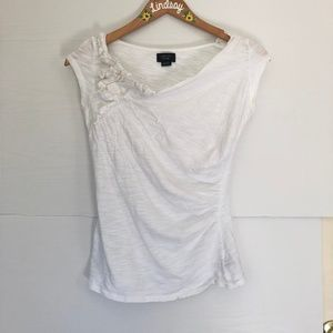 Anthropologie Deletta Top with Folding and Ruching